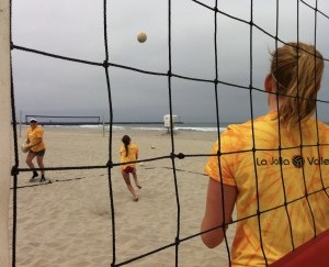 beach camp thru net shot